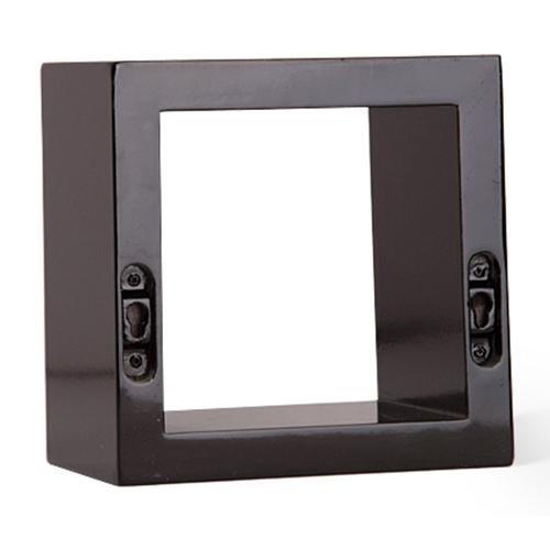 3 set square high gloss floating tv dvd books wall mounted. Black Bedroom Furniture Sets. Home Design Ideas