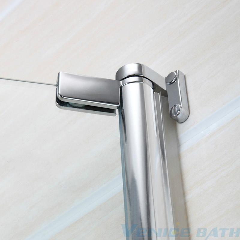 frameless 5 mm tempered glass over bath shower screen door bn 180 176 pivot radius frameless glass over bath shower